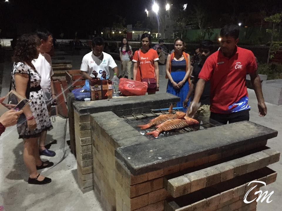 Our Chinese  Guest Group Doing BBQ At Hulhumale BBQ Point