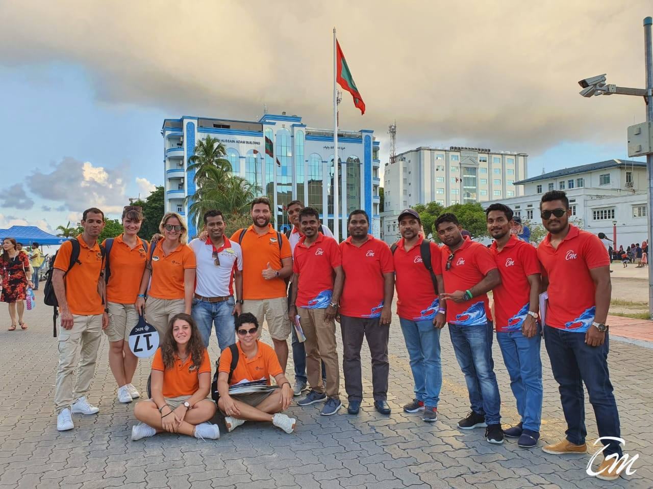 Team TCM, Shrine and MSC after a successful operation of MSC ORCHESTRA in Maldives.