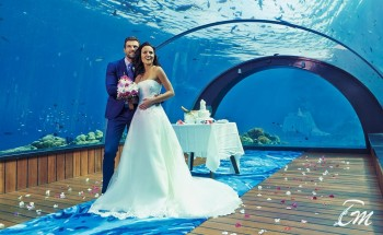 Wedding in underwater