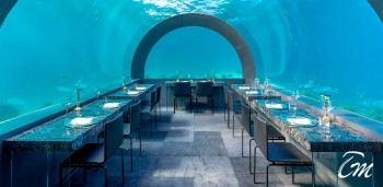 Maldives Undersea Restaurant H2O Interior at You And Me Cocoon Maldives