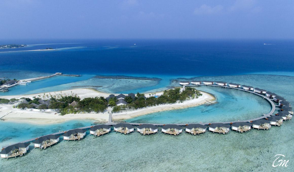 Cinnamon Dhonveli Maldives  Water Villa Aerial