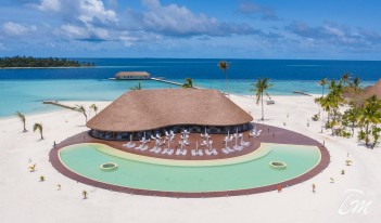 Cinnamon Velifushi Maldives Fen Pool Bar Arial View