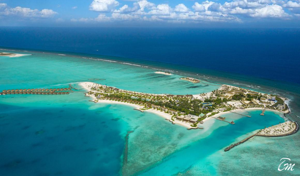 Kuda Vilingli Resort Maldives -Island Aerial View