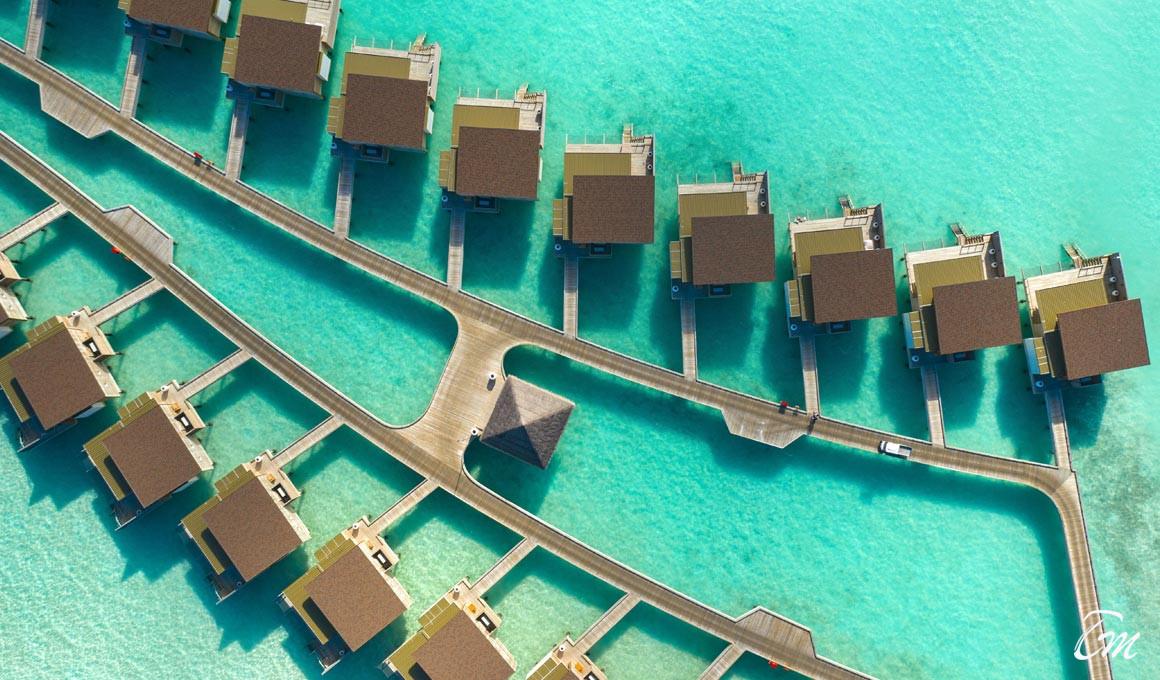 Kuda Vilingli Resort Maldives -Water Villas Aerial View