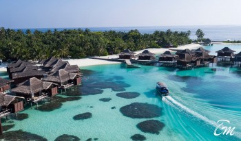 Anantara Veli Maldives Resort And Spa Jetty Aerial View