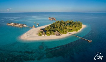 Angaga Island Resort Arial View