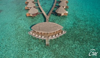 Angaga Island Resort and Spa - Sundown bar Arial View