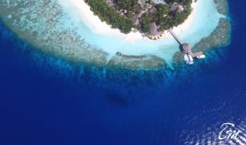 Arial View Beach At Ihuru Angsana Maldives
