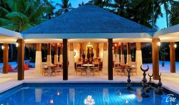 Ayada Maldives Dining Ottoman Lounge View