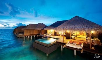 Ayada Maldives Villas Sunset Ocean Family Suite Exterior View