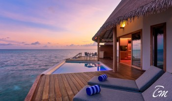 Cinnamon Velifushi Maldives Water Bungalow Sunset