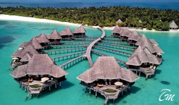 Coco Palm Dhuni Kolhu Maldives Sunset Lagoon Villa Aerial Views