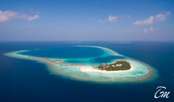 Constance Halaveli Maldives Island Aerial View