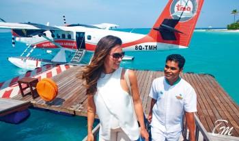 Constance Halaveli Maldives Seaplane Jetty