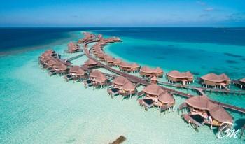 Constance Halaveli Maldives Water Villas Aerial View