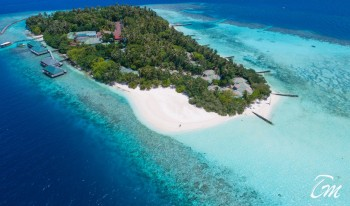 Embudu Village Maldives Resort Aerial View