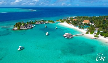 Holiday Inn Resort Kandooma Maldives Arial view