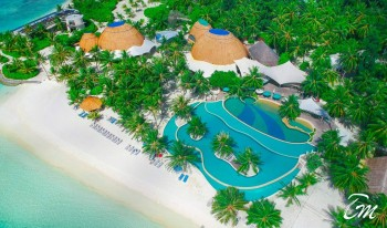Holiday Inn Resort Kandooma Maldives Pool Aerial view