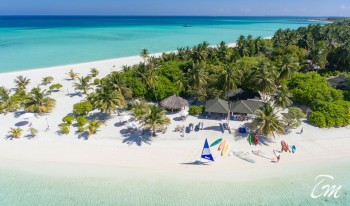 Holiday Island Resort And Spa Maldives Watersports Centre Aerial View