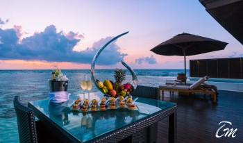 Lily Beach Resort and Spa Luxury Water Villa Sunset View