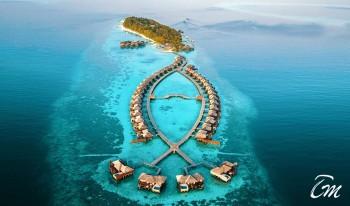 Lily Beach Resort and Spa Maldives Island Aerial View