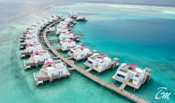 Lux* North Male Atoll Water Villa Close View