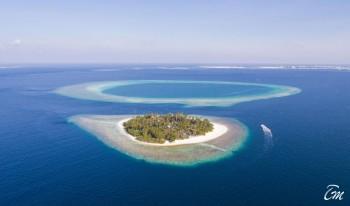 Malahini Kuda Bandos Resort Aerial View