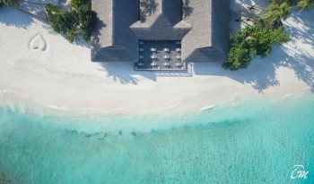 Malahini Kuda Bandos Resort Beach Aerial View