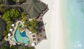 Paradise Island Resort Maldives Aerial View