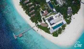 Park Hyatt Hadahaa Maldives Island Arial View
