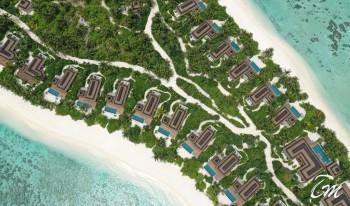 Pullman Maldives Maamutaa Beach Villas Aerial