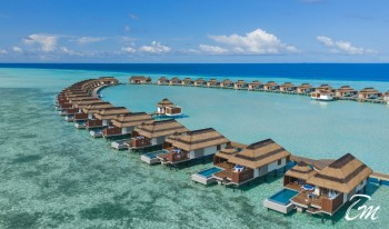 Pullman Maldives Resort And Spa - Water villa Aerial  Close