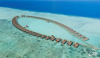 Pullman Maldives Maamutaa Water Villas Aerial