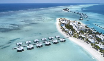 RIU Atoll 4 Star maldives Arial view