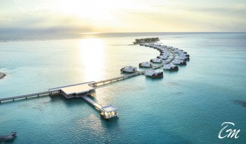 RIU Palace 5 Star All inclusive maldives Arial view
