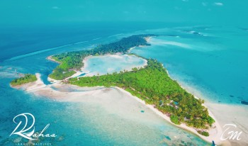 Rahaa Resort Laamu Atoll Maldives Aerial View