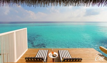 SAii Lagoon Maldives, Curio Collection by Hilton Over water villa Deck