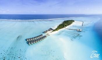Summer Island Maldives Aerial View