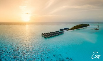 Summer Island Maldives Arial View
