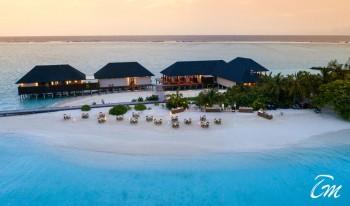 Summer Island Maldives Arial View