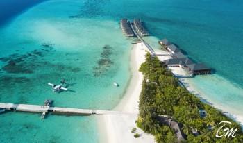 Summer Island Maldives Island Aerial View