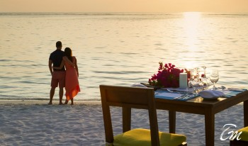 Summer Island Maldives Romantic Beach Dinner