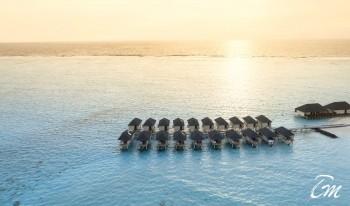 Summer Island Maldives Water Villas Aerial View