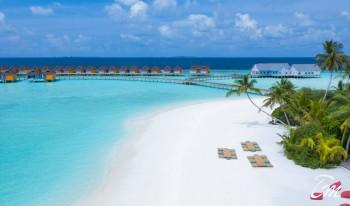 The Standard Huruvalhi  Maldives Beach Aerial View