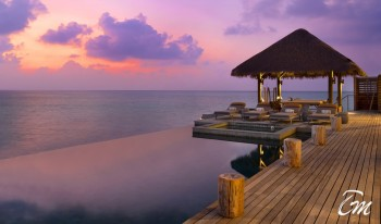 Sunset view from Luxury Residence Villa - Vakkaru Maldives