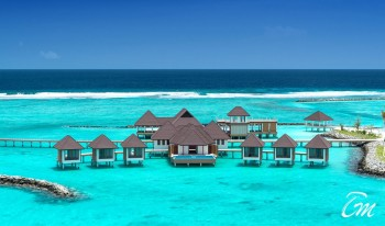 Varu by Atmosphere Maldives Water Villa Jetty Aerial View