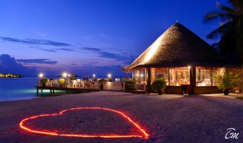 Adaaran Select Hudhuranfushi Maldives Restaurant Night View