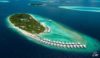 Amilla Fushi Maldives Island Aerial View