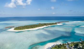 Anantara Dhigu Maldives Resort Aerial View