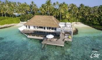 Cheval Blanc Randheli Maldives Lagoon Garden Villa Arial View